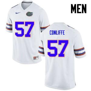 Men Florida Gators #57 Elijah Conliffe College Football White 543595-677