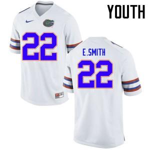 Youth Florida Gators #22 Emmitt Smith College Football Jerseys White 679537-250