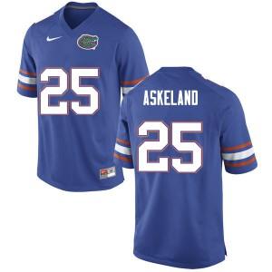 Men #25 Erik Askeland Florida Gators College Football Jerseys Blue 544778-438