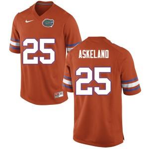 Men #25 Erik Askeland Florida Gators College Football Jerseys Orange 618161-756