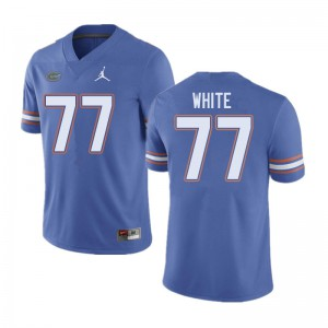 Jordan Brand Men #77 Ethan White Florida Gators College Football Jerseys Blue 431114-529