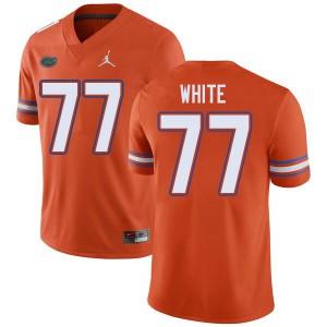Jordan Brand Men #77 Ethan White Florida Gators College Football Jerseys Orange 416023-704