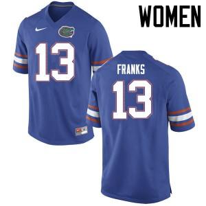 Women Florida Gators #13 Feleipe Franks College Football Jerseys Blue 772885-111
