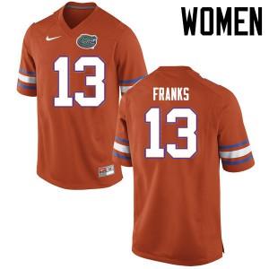 Women Florida Gators #13 Feleipe Franks College Football Jerseys Orange 413195-701