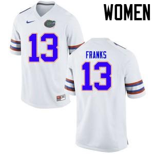 Women Florida Gators #13 Feleipe Franks College Football Jerseys White 978806-968