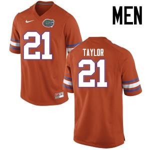 Men Florida Gators #21 Fred Taylor College Football Jerseys Orange 455027-641