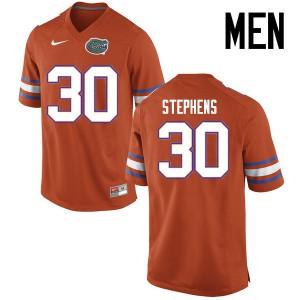 Men Florida Gators #30 Garrett Stephens College Football Jerseys Orange 553162-841