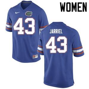 Women Florida Gators #43 Glenn Jarriel College Football Jerseys Blue 354974-954