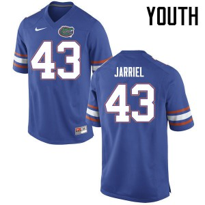 Youth Florida Gators #43 Glenn Jarriel College Football Jerseys Blue 245641-167