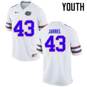 Youth Florida Gators #43 Glenn Jarriel College Football Jerseys White 911478-199