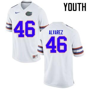Youth Florida Gators #46 Harry Gornto V College Football Jerseys White 593775-739