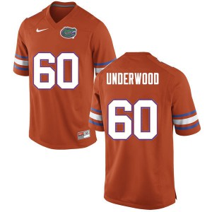 Men #60 Houston Underwood Florida Gators College Football Jerseys Orange 948821-528