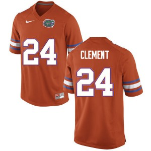 Men #24 Iverson Clement Florida Gators College Football Jerseys Orange 809127-294