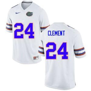 Men #24 Iverson Clement Florida Gators College Football Jerseys White 719189-357