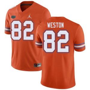 Jordan Brand Men #82 Ja'Markis Weston Florida Gators College Football Jerseys Orange 493212-379