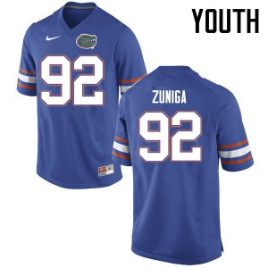 Youth Florida Gators #92 Jabari Zuniga College Football Jerseys Blue 191005-880