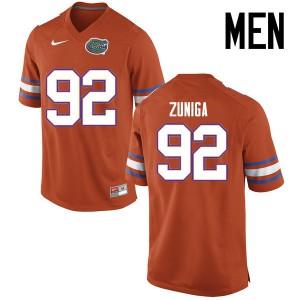 Men Florida Gators #92 Jabari Zuniga College Football Jerseys Orange 955888-938