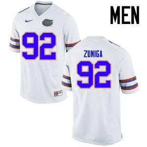 Men Florida Gators #92 Jabari Zuniga College Football Jerseys White 949090-568