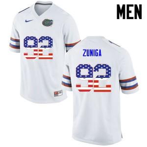 Men Florida Gators #92 Jabari Zuniga College Football USA Flag Fashion White 636965-904