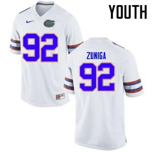 Youth Florida Gators #92 Jabari Zuniga College Football Jerseys White 632193-956