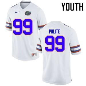 Youth Florida Gators #99 Jachai Polite College Football Jerseys White 411070-998