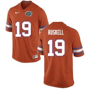 Men #19 Jack Ruskell Florida Gators College Football Jerseys Orange 456445-777