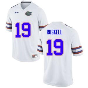 Men #19 Jack Ruskell Florida Gators College Football Jerseys White 452236-654