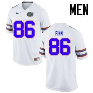 Men Florida Gators #86 Jacob Finn College Football Jerseys White 786471-136