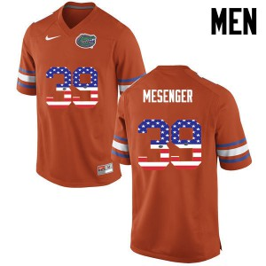 Men Florida Gators #39 Jacob Mesenger College Football USA Flag Fashion Orange 180310-479