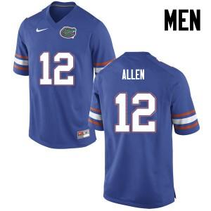 Men Florida Gators #12 Jake Allen College Football Blue 402054-345