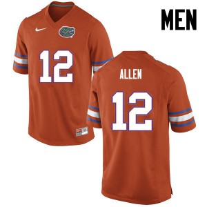 Men Florida Gators #12 Jake Allen College Football Orange 470908-488