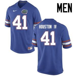 Men Florida Gators #41 James Houston IV College Football Jerseys Blue 865962-468