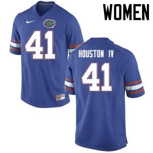 Women Florida Gators #41 James Houston IV College Football Jerseys Blue 291805-636