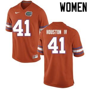 Women Florida Gators #41 James Houston IV College Football Jerseys Orange 555203-114