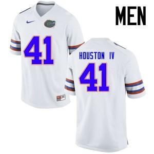 Men Florida Gators #41 James Houston IV College Football Jerseys White 176239-618