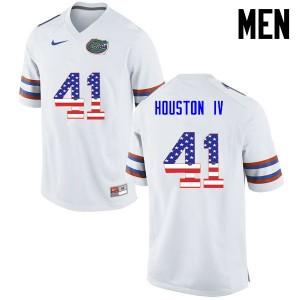 Men Florida Gators #41 James Houston IV College Football USA Flag Fashion White 506226-286