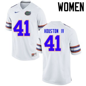 Women Florida Gators #41 James Houston IV College Football Jerseys White 690426-463