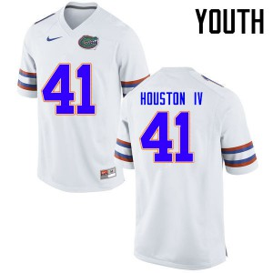 Youth Florida Gators #41 James Houston IV College Football Jerseys White 395663-993