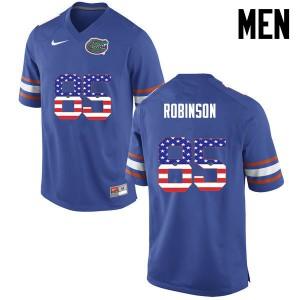 Men Florida Gators #85 James Robinson College Football USA Flag Fashion Blue 400018-739