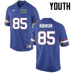 Youth Florida Gators #85 James Robinson College Football Blue 778498-346