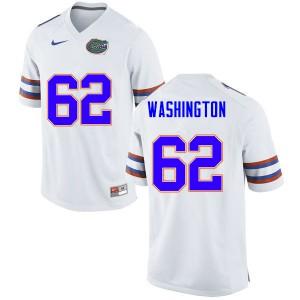 Men #62 James Washington Florida Gators College Football Jerseys White 465768-718