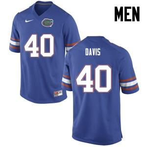 Men Florida Gators #40 Jarrad Davis College Football Blue 588897-325