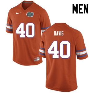 Men Florida Gators #40 Jarrad Davis College Football Orange 440279-215