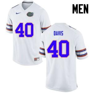 Men Florida Gators #40 Jarrad Davis College Football White 350482-760