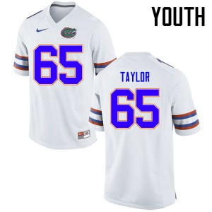 Youth Florida Gators #65 Jawaan Taylor College Football Jerseys White 335520-718