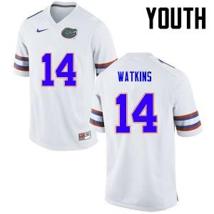 Youth Florida Gators #14 Jaylen Watkins College Football White 731674-493