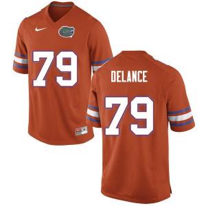 Men #79 Jean DeLance Florida Gators College Football Jerseys Orange 935449-152