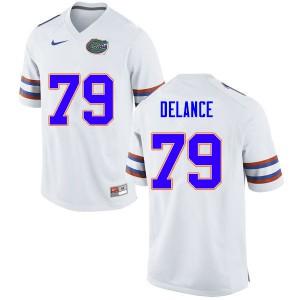 Men #79 Jean DeLance Florida Gators College Football Jerseys White 854994-707