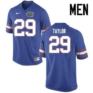 Men Florida Gators #29 Jeawon Taylor College Football Jerseys Blue 725009-539