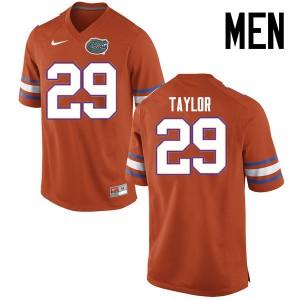 Men Florida Gators #29 Jeawon Taylor College Football Jerseys Orange 831520-792